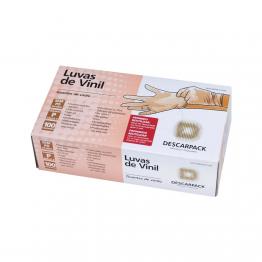Luva Vinil P Descarpack S/po C/100