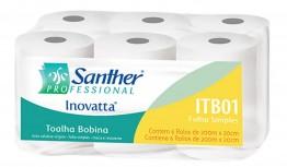 Toalha Bob 6x20x200 100% Santher A.corte 35g