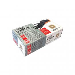 Luva Nitrilica M Descarpack C/100. Preta S/po