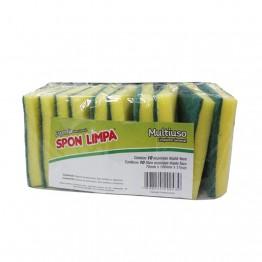 Esponja Verde Spon Limpa 70x100x17 C/10