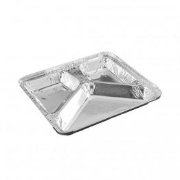 Bandeja Aluminio 3 Div Wyda C/100 D17 900ml