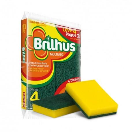 Esponja D Face Brilhus C/4 Lv4/pg3