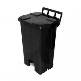 Cesto Lixo Quadrado 100lt Jsn C/rd C/pd Pr