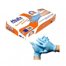 Luva Nitrilica P Medix C/100 Azul S/po