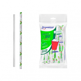 Canudo Bio Milk Straw Sch C/100 Shake 8mmx21cm