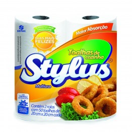 Papel Toalha Cozinha Stylus C/2
