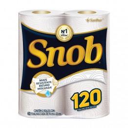 Papel Toalha Cozinha Snob C/2 Branca Tnb22