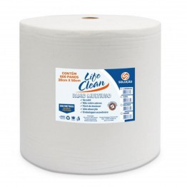 Pano Multi Uso 300mt Life Clean Branco