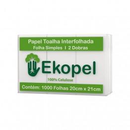 Papel Toalha Interfolha 2d 100% 21x20 Fs C/1000 Ekopel