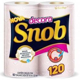 Papel Toalha Cozinha Snob C/2 Decorada Tnb12