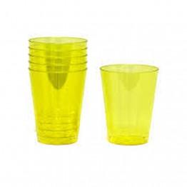 Copo 200ml Acr Sert Plast C/10 Amarelo