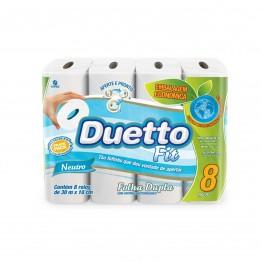Papel Higiênico F.dupla Duetto 64 Rolos Fit