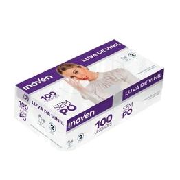 Luva Vinil M Inoven S/po C/100