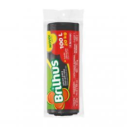 Saco Lixo 100l Brilhus C/15 Pr Rl Bettanin