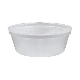 Marmitex Isopor 500ml R100 Cristal Fd C/100 S/tp