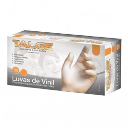 Luva Vinil P Talge C/po C/100