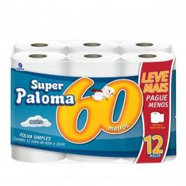 Papel Higiênico F.simples Paloma 72 Rolos 60mts